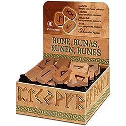 Juego de 25 runas de madera