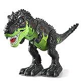 KINGBOT Electronic, Spielzeug, Walking Dinosaurier mit Blitzen und Tönen für Jungen, Green