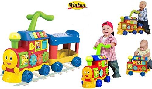Winfun 3in1 Lauffahrzeug Rutscher Laufwagen ZUG mit Musik Sound Licht