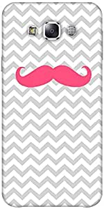 Snoogg Wave Mustache Solid Snap On - Back Cover All Around Protection Forsams...