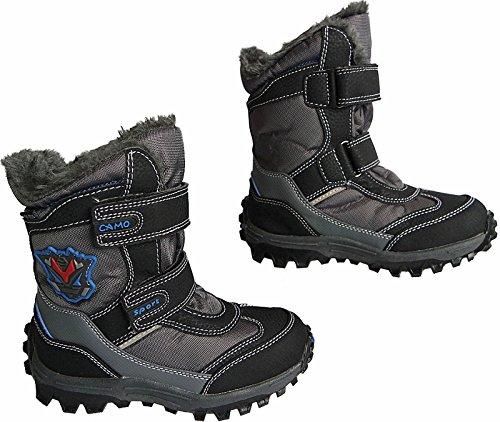 Jungen Kinder Winter Stiefel Boots warm gefuettert gr.25 - 36 art.nr.5017/18 Grau