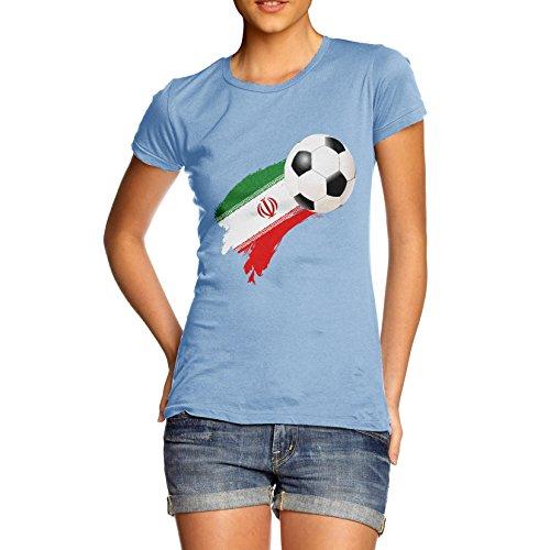 TWISTED ENVY  Damen T-Shirt Himmelblau
