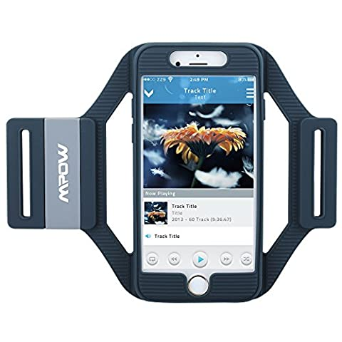 Sports Armband for iPhone 6s, Mpow Silicone Sport Armband for Apple iPhone 6 6S, Lightweight, Flexible, Well-rounded Protection with Precise Cutouts for Port Connection while Running