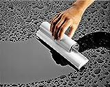 Cleret Elite Squeegee, Abzieher für Duschkabinen mit zweifacher Gummilippe - Weiß/Chrom, 25 cm lang