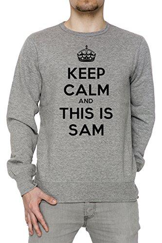 keep-calm-and-this-is-sam-gris-algodon-hombre-sudadera-sudaderas-jersey-pullover-grey-mens-sweatshir