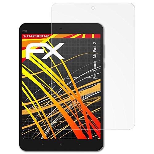 atFolix Schutzfolie kompatibel mit Xiaomi Mi Pad 2 Bildschirmschutzfolie, HD-Entspiegelung FX Folie (2X)