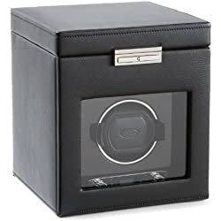 Wolf Designs 457156 Module 2.7 Roadster Single Watch Winder with Cover and Storage