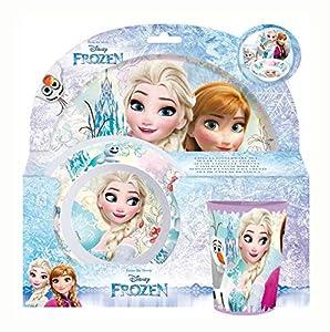 P: os 23873Disney Frozen-Set de Desayuno (Plato, Cuenco y Taza, 3Piezas