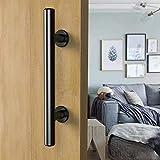 CCJH Maniglia per porte scorrevoli e scorrevoli in nero per porte scorrevoli in legno
