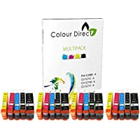 20 Colour Direct Compatible Ink Cartridges Replacement For Canon PGI-520 CLI-521 - Canon Pixma iP3600 iP4600 iP4700 MP540 MP550 MP560 MP620 MP630 MP640 MP980 MP990 MX860 MX870 Printers