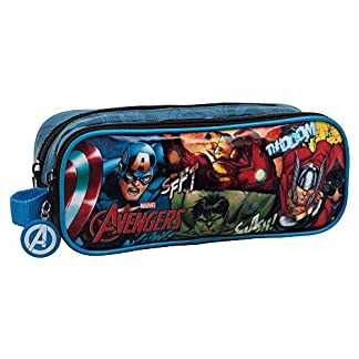 Marvel Avengers Neceser de Viaje, 1.45 litros, Color Negro