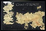 Game of Thrones Poster Die sieben Königreiche (96,5x66 cm) gerahmt in: Rahmen schwarz