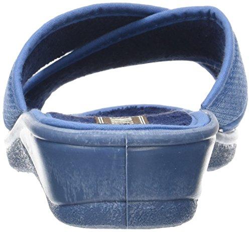 Rondinaud Damen D-e17-Valliere Pantoletten Bleu (Bleu)