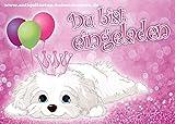 9 Einladungskarten zum Kindergeburtstag - Hund - Mädchen - Party - Geburtstag