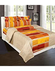 Beautiful Homes 250 Tc Pure Cotton Bedsheet with Two Pillow Covers
