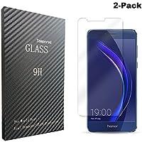 [2-Unidades]Huawei Honor 8 Protector de Pantalla, Songsong Protector de Pantalla Cristal Vidrio Templado para Huawei Honor 8 Screen Protector Alta Transparencia 3D Touch Sin burbujas