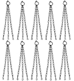 Iron Chain 15 Inch Length - Metal Chain for Hanging Pots - (Pack of 10) - Hanging Basket Chain