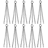 COIR GARDEN Iron Chain For Hanging Pots, Black, 15 in, 10 Pieces