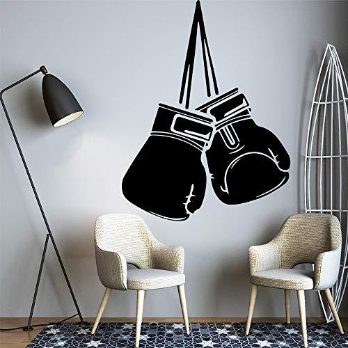SLQUIET Kreative boxhandschuhe art fashion wandaufkleber wasserdicht wandaufkleber vinyl wandkunst aufkleber bett raumdekoration dekoration silber 30x39 cm