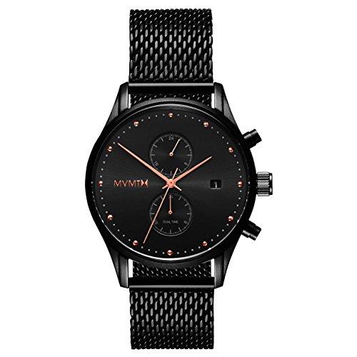 MVMT Herren Chronograph Quarz Uhr mit Edelstahl Armband D-MV01-BBRG
