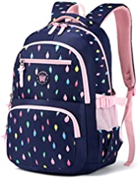 Mochila escolar para niños,Bolsa de escuela para niños Mochila chica mochila Bolsas de hombro livianas Bolsa de escuela de Nylon chico Mochila adolescente portátil Mochila