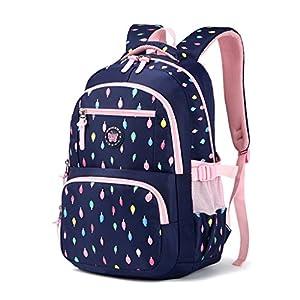 Mochila escolar para niños,Bolsa de escuela para niños Mochila chica mochila Bolsas de hombro livianas Bolsa de escuela de Nylon chico Mochila adolescente portátil Mochila – Azul