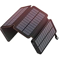 Hiluckey Solar Charger 24000mAh Portable Phone Charger Power Bank with 3 Solar Panels Waterproof External Battery Pack for Smartphones Tablets and More 16