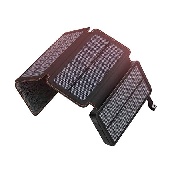 Hiluckey Solar Charger Power Bank Portable Charger Waterproof 1