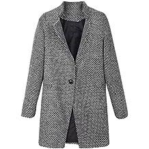 KOLY Giacche Ragazze Donne Inverno Cardigans Semplici Caldo Casual Moda  Cappotti Eleganti Aderenti Ufficio Giacca Sottile 09db8499ed2