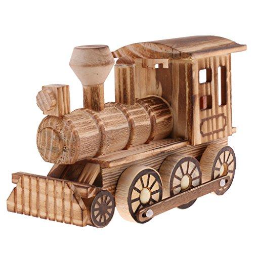 komotive Auto Modell Holzspielzeug für Dekoration,Sammlung oder Geschenk ()