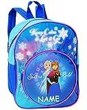 alles-meine.de GmbH Rucksack -  Disney die Eiskönigin - Frozen  - Incl. Name - Tasche - wasserfe..