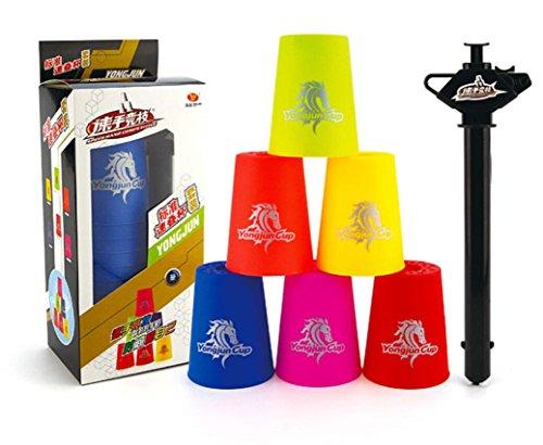 Preisvergleich Produktbild 12 Stück Speed Stacks Sport Stacking Geduldsspiel für kinder studierr und Salaryman blue!!