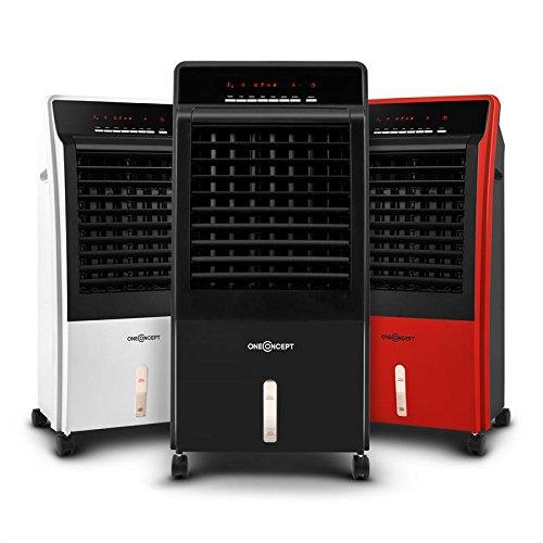 oneConcept CTR-1 Condizionatore ventilatore portatile 4 in 1, umidificatore, depuratore aria (65 Watt, 8 litri, regolabile 3 livelli, timer, telecomando) nero