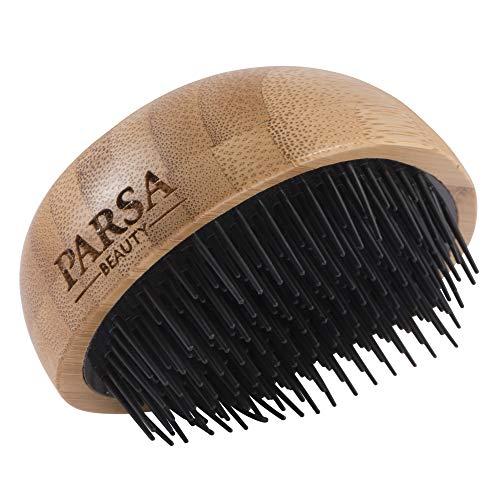 PARSA BEAUTY Profi FSC Bambus Holz Entwirrbürste Entwirrer Haarbürste mit 4-stufiger Borstenanordnung