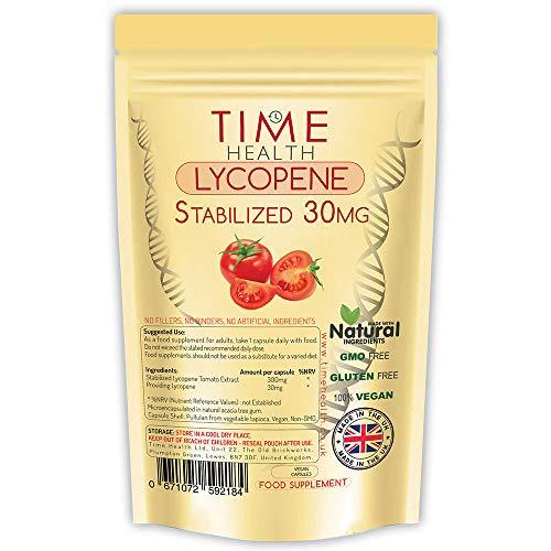Lycopin - 30 mg pro Kapsel - Stabilisierte, mikroverkapselte Formel - Tomatenextrakt - Vegan - Ohne Zusätz (120 Kapseln pro Beutel)