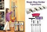 #9: AADYA Magic Holder Broom & Mop Organizer Heavy Quality Mop & Broom Holder