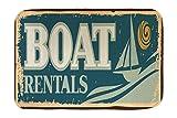 Cama Perro Nostálgico Alquiler de barcos impreso 40x60 cm