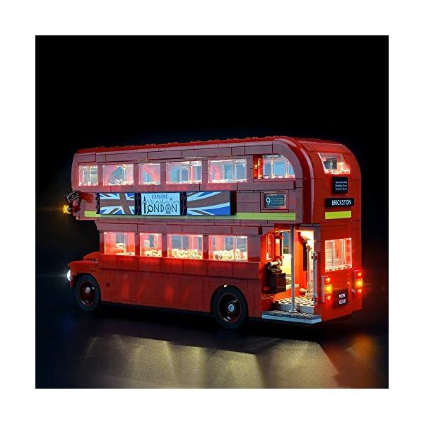 LIGHTAILING Set di Luci per (Creator Expert Autobus Londinese) Modello da Costruire - Kit Luce LED Compatibile con Lego 10258 (Non Incluso nel Modello) 2 spesavip