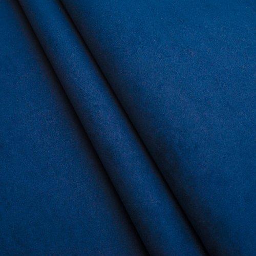 Alcantara Meterware Imitat Polsterstoff Microfaser Wildleder Möbelstoff (Blau)