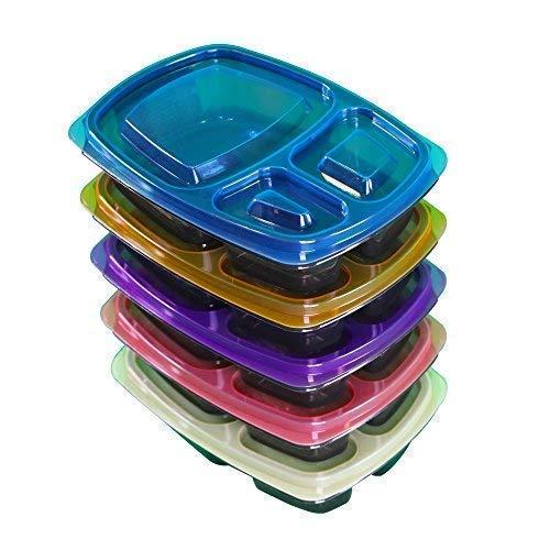 Hungry Wolf Refuel Container | Premium Mahlzeit Vorbereitung für Fitness Ziele, Gewichtsmanagement und Reisen Höchste Qualität langlebiges Design