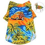 Petacc Hund Katze Hawaii Strandshirt Hundebekleidung für Kleine Hunde Sommer für Strand Urlaub