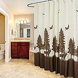 Polyester-Duschvorhanggewebe Trennvorhang Badezimmerduschvorhang wasserdicht verdicken Mehltau-Badezimmervorhänge freier Durchschlag Duschvorhang,A_180*200cm