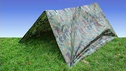 Tarpaulin DPM Tarpaulin-Plane, 2,7 m x 3,5 m, Camouflage
