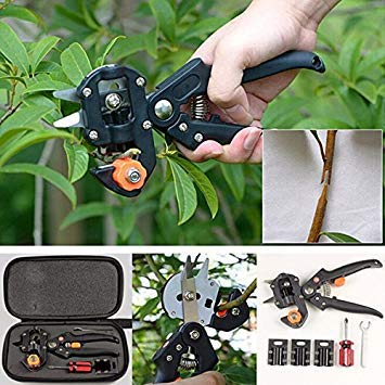 grafting Tape Included Contemplative Kindsgoods Professional 3 Blade Omega-type V-type U-type Grafting Pruner Black Color Elegant And Sturdy Package