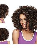 WIGSTYLE Perruques Fashion glueless mélange brun foncé de femmes à la mode de cheveux courts perruque de cheveux afro-américaine pour