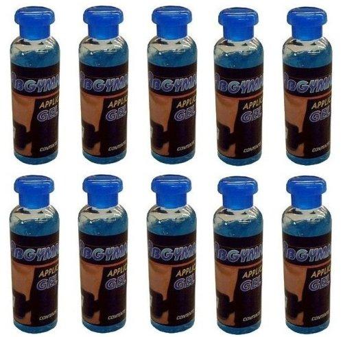 Original Abgymnic Hochleitbares Gel für TENS, EMS und alle Muskeltrainingssysteme, 10 x 100 ml