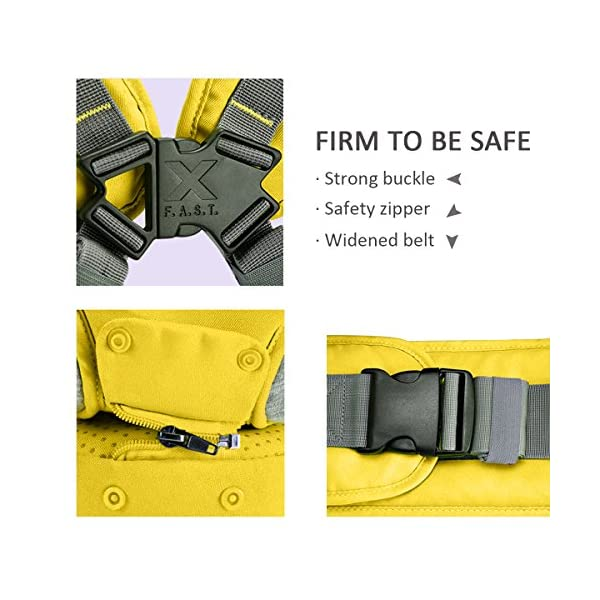 SONARIN 3 in 1 Multifunction Cartoon Hipseat Baby Carrier, Ergonomic,100% Cotton, One Size Fits All,Adapted to Your Child's Growing,Easy to Carry and Easy Mom,Ideal Gift(Yellow) SONARIN Applicable age and Weight:0-36 months of baby, the maximum load: 20KG, and adjustable the waist size can be up to 46.5 inches (about 118cm). Material:designers carefully selected soft and delicate 100% cotton fabric. Resistant to wash, do not fade, to the baby comfortable and safe experience. Cartoon version design, let the baby more like and adapt. Description:patented design of the auxiliary spine micro-C structure and leg opening design, natural M-type sitting. Side with small pockets so that you can put some daily necessities when you go outside. The baby carrier and the hipseat junction have a protective pad,intimate design, so that your baby more comfortable. 5