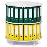 Ordner-Drehsäule 2 Etagen bis zu 48 Ordner, 800mm Durchmesser