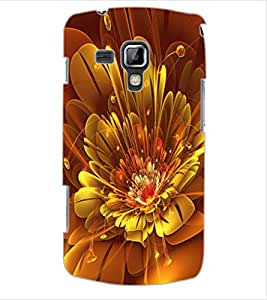 ColourCraft Digital Flower Design Back Case Cover for SAMSUNG GALAXY S DUOS 2 S7582