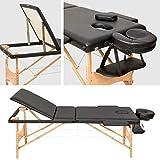 TecTake Table de massage Table de massage pliante 3 zones - disponible en différentes couleurs